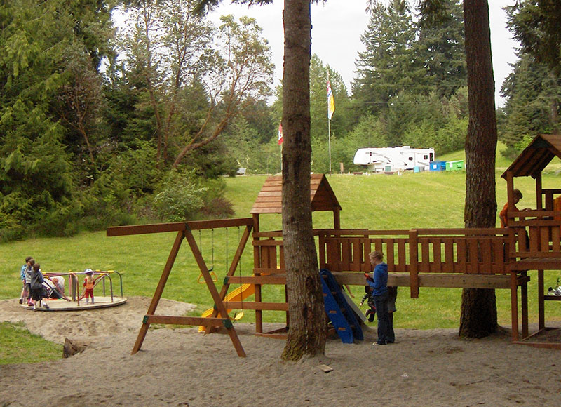 Vancouver Island Campground - Kids Playground