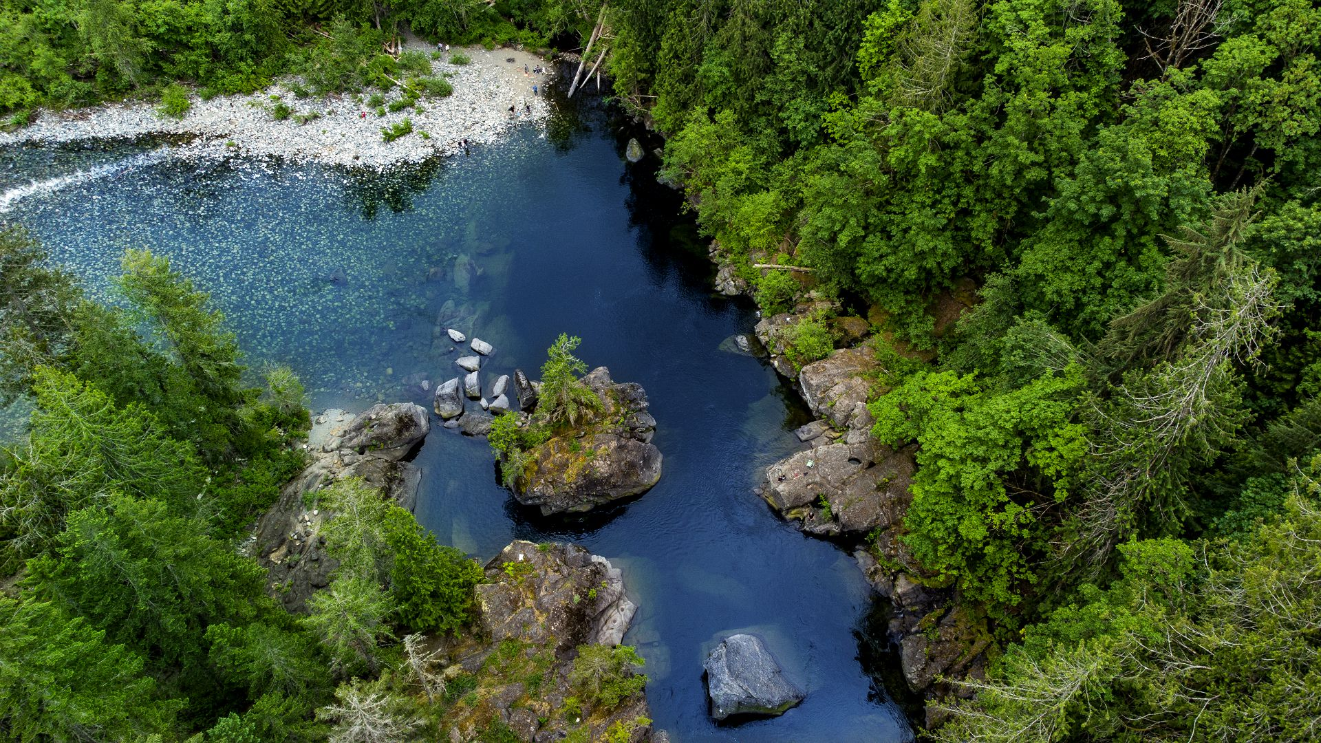 Nanaimo river swimming hole